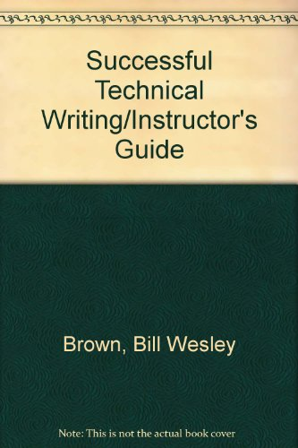 9780870069383: Successful Technical Writing/Instructor's Guide