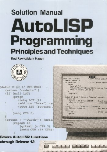 9780870069437: Autolisp Programming/Solution Manual