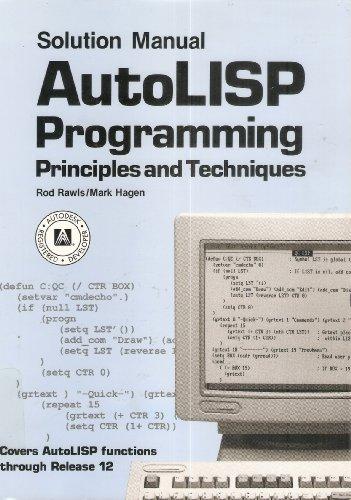 9780870069437: Autolisp Programming/Solution Manual