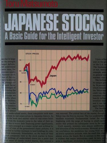 9780870118920: Japanese Stocks: A Basic Guide for the Intelligent Investor