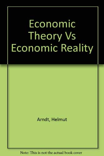 9780870132353: Economic Theory Vs Economic Reality