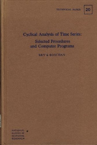 Cyclical Analysis of Time Series Selected Procedures and Computer Programs: Bry, Gerhard