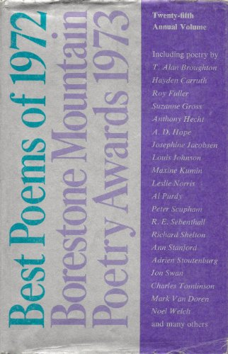Best Poems of 1972: Borestone Mountain Poetry Awards 1973