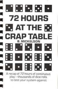 9780870190582: 72 Hours at the Crap Table
