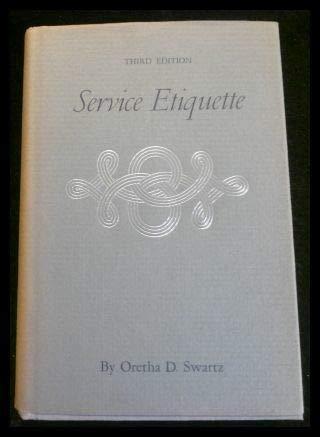 9780870216244: Service Etiquette