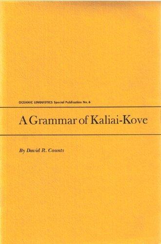 9780870221569: A Grammar of Kaliai-Kove (Oceanic Linguistics Special Publication ; No.6)