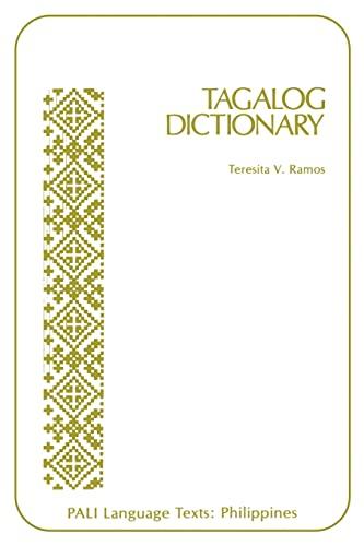 9780870226762: Tagalog Dictionary (PALI Language Texts)