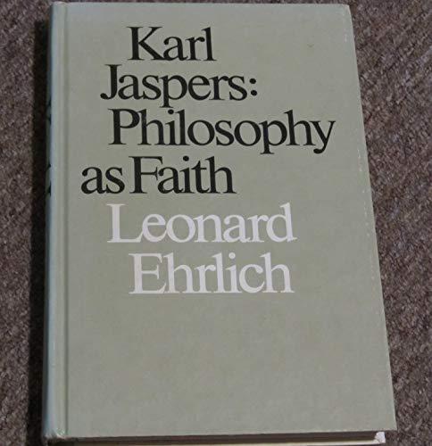 9780870231537: Karl Jaspers: Philosophy as Faith