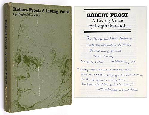9780870231650: Robert Frost: A Living Voice