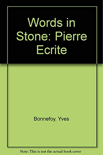 9780870232039: Words in Stone: Pierre Ecrite