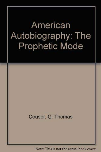 9780870232633: American Autobiography: The Prophetic Mode