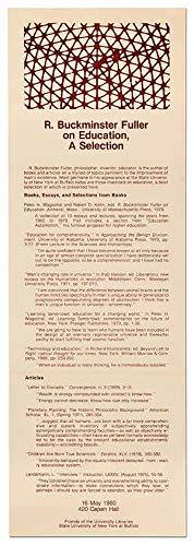 9780870232763: R. Buckminster Fuller on education