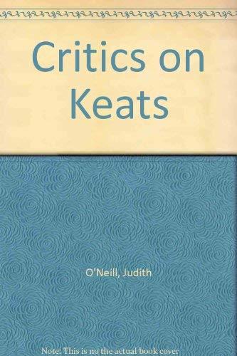 9780870240973: Critics on Keats
