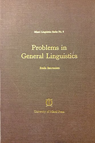 9780870241321: Problems in General Linguistics (Miami Linguistic)