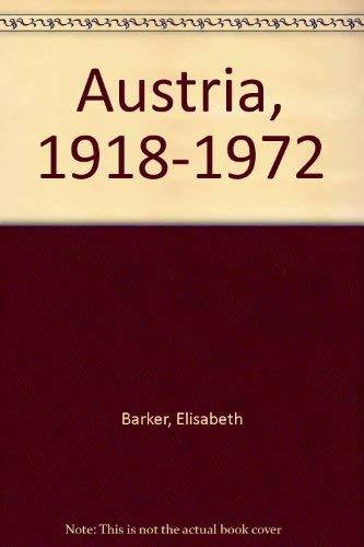 Austria, 1918-1972: Barker, Elisabeth