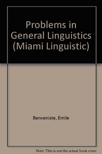 9780870243103: Problems in General Linguistics (Miami Linguistic)
