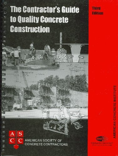 9780870311673: Contractor's Guide to Quality Concrete Construction, 3rd Edition