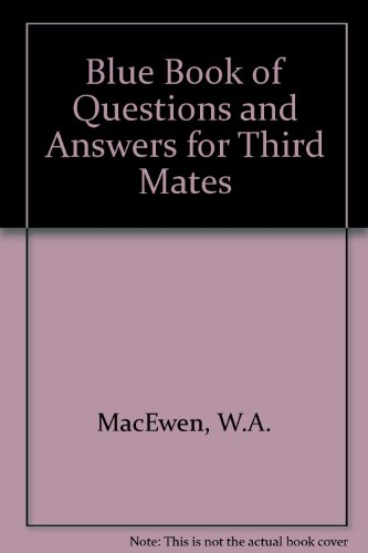 9780870330087: Blue Book of Questions and Answers for Third Mates