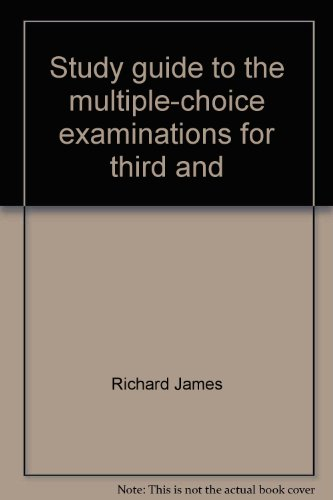 9780870332340: Study guide to the multiple-choice examinations for third and second mates including the radar observer endorsement