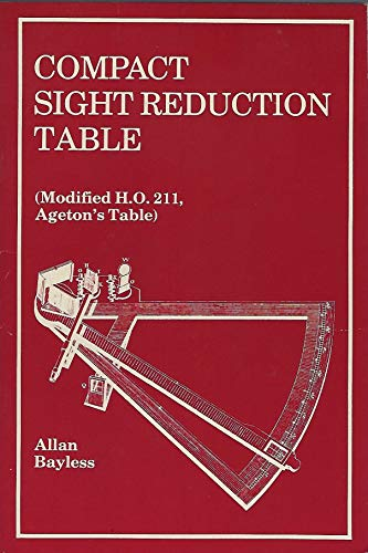 9780870332692: Compact sight reduction table (modified HO 211, Ageton's table)