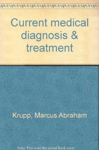 9780870411274: Current medical diagnosis & treatment