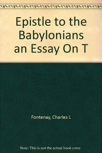 9780870490880: Epistle to the Babylonians an Essay On T