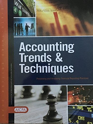 9780870518478: Accounting Trends and Techniques: Presenting and Analyzing Financial Reporting Practices, Sixty-Third Edition