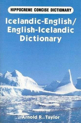 Icelandic-English/English-Icelandic Concise Dictionary (Hippocrene Concise Dictionary)