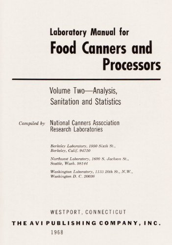 9780870550287: Laboratory Manual for Food Canners and Processors: Analysis, Sanitation and Statistics v. 2