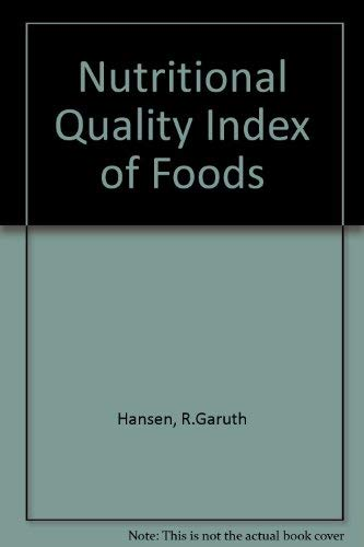 9780870553202: Nutritional Quality Index of Foods
