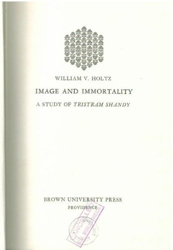 9780870571213: Image and Immortality: A Study of Tristam Shandy