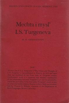Mechta I Mysl' I S Turgeneva: Gershenzon, M O.