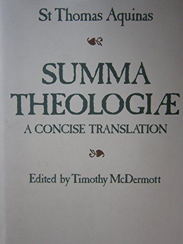 9780870611704: Summa Theologiae: A Concise Translation