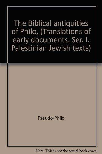 9780870680694: The Biblical Antiquities of Philo