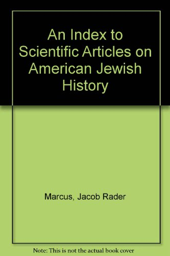 an index to scientific articles on american jewish history