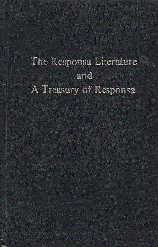 9780870682025: The Responsa Literature and A Treasury of Responsa