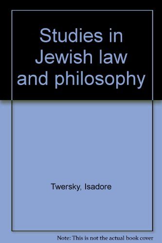 9780870683350: Studies in Jewish law and philosophy