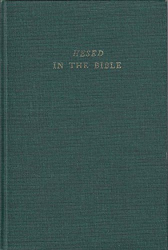 9780870684784: Hesed in the Bible