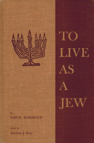 To Live as a Jew