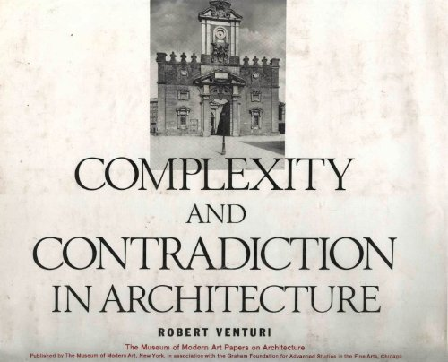 9780870702815: Complexity and Contradiction in Architecture (Museum of Modern Art Papers on Architecture)