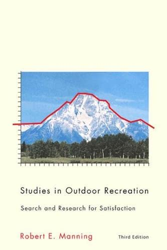9780870715907: Studies in Outdoor Recreation, 3rd ed.: Search and Research for Satisfaction