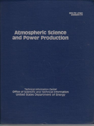 9780870791260: Atmospheric Science and Power Production