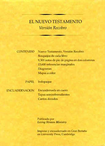 9780870838019: Nuevo Testamento, Version Recobro-OS