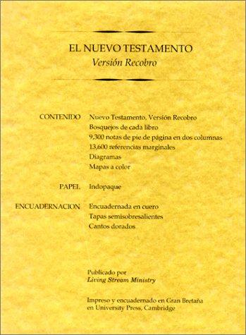 9780870838026: El Nuevo Testamento Version Recobro: Granate