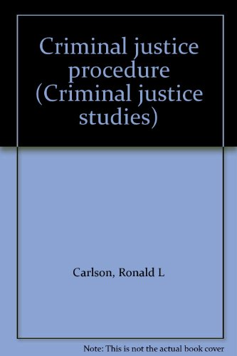 9780870841309: Criminal justice procedure (Criminal justice studies)