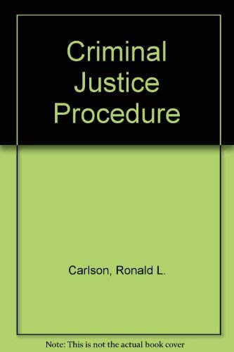 9780870841316: Criminal Justice Procedure