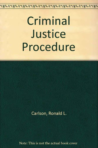 9780870841361: Criminal Justice Procedure