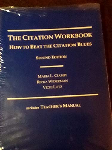 9780870841392: The Citation Workbook: How to Beat the Citation Blues