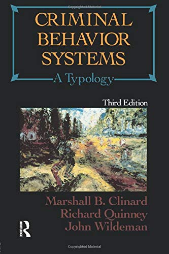 9780870841804: Criminal Behavior Systems: A Typology