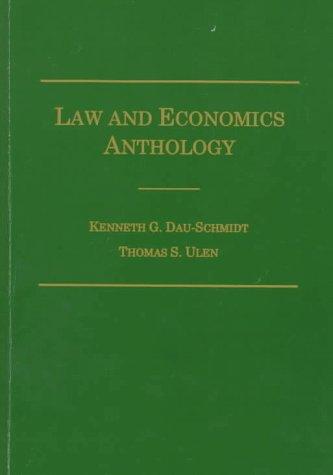 9780870842085: Law and Economics Anthology